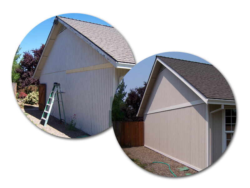 A picture of wood and home repairs by a painting company in Bend, Oregon.