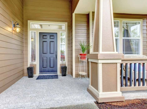 Newly painted upscale exterior entrance in Bend, Oregon.