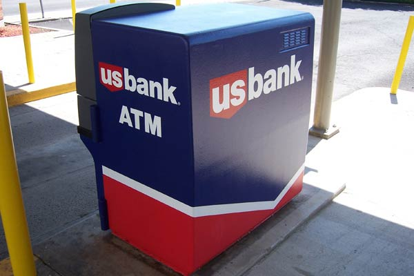 A rear view of an Oregon ATM painted with epoxy.